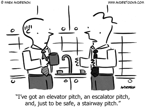Elevator Pitch Cartoon